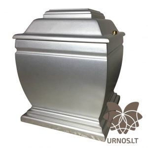 Švelnios sidabro spalvos matinė ąžuolinė urna