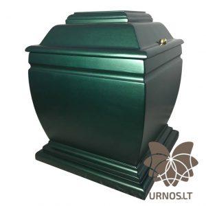 Žalios-smaragdo spalvos matinė ąžuolinė urna