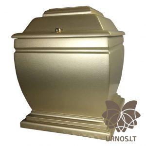 Pastelinės aukso spalvos matinė ąžuolinė urna