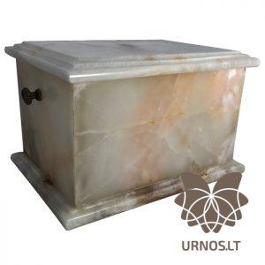 SA-2 sviesi marmurine urna su rankenelemis