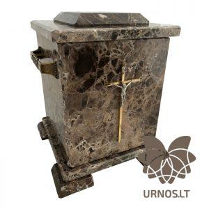 ruda marmurine urna