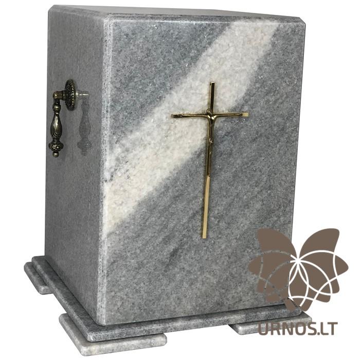 pilka marmurine urna