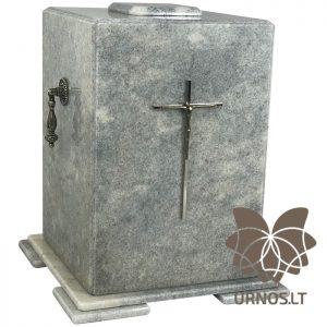 šviesiai pilko marmuro urna